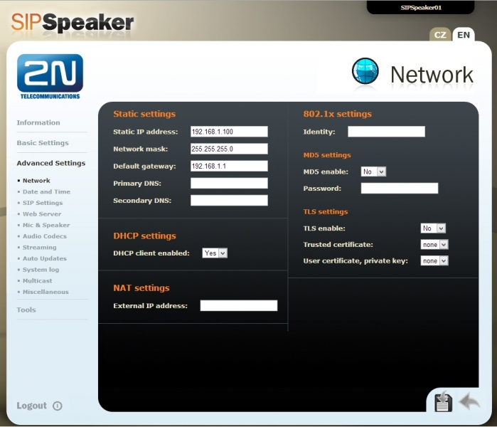 2NSpeaker Network
