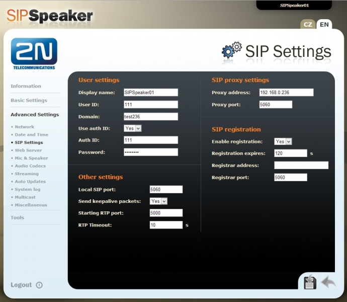2NSpeaker SIP
