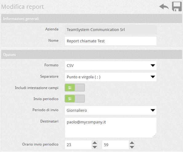 6.5 PBX modifica report