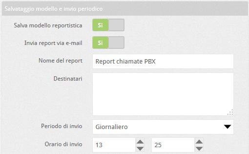 6.5 pbx report chiamate modello