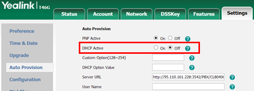 DHCP Provisioning