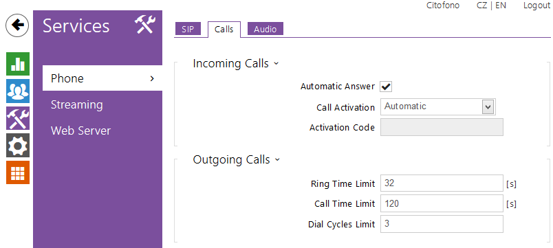 2N UNI phone calls