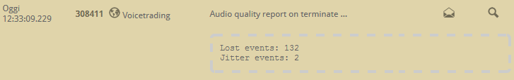 6.4 PBX audio quality log