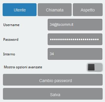 6.5 GUIHTML account utente