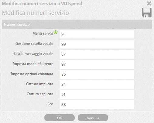 6.5 PBX numeri servizio
