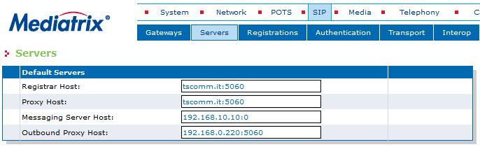 Enterprse SIP Servers