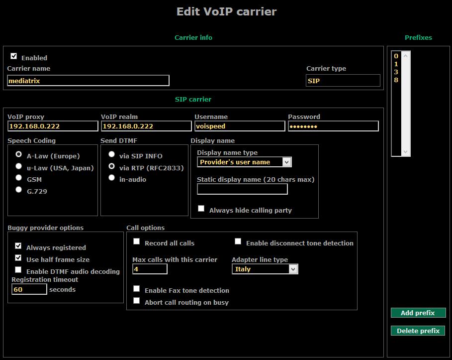 KB V4 carrier mediatrix