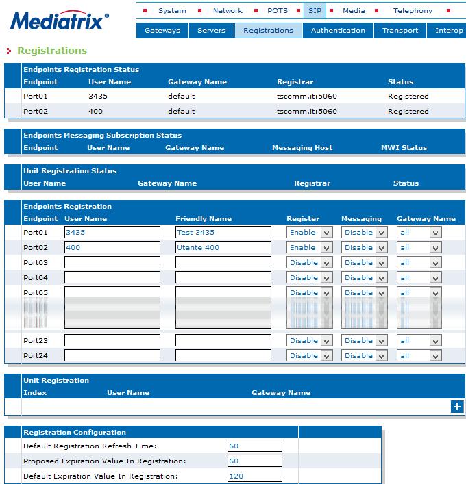 MDX 4124 Registrations