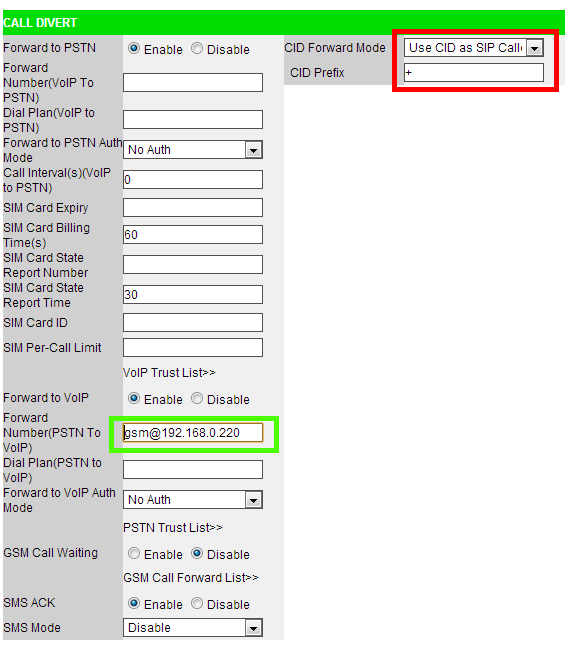 VOIspeed V-6021 Gateway GSM