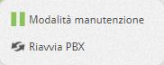 pbx riavvia